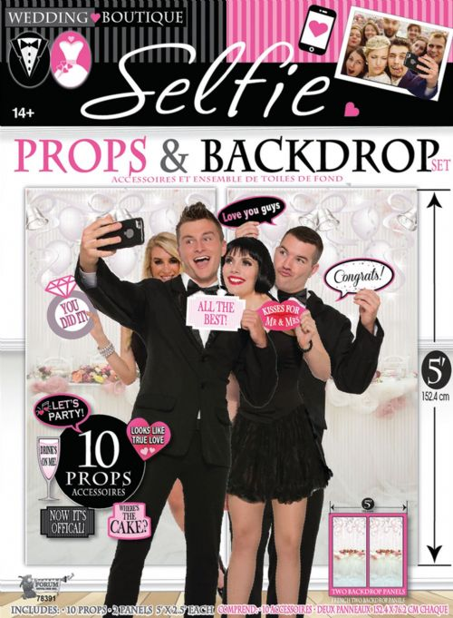 Wedding Photo Booth Set 12pc Photobooth Party Favour